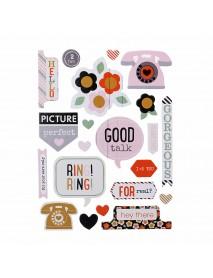 48pcs DIY Cutting Scrapbook Card Photo Album Paper Embossing Craft Decoration