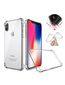 Air Cushion Corners Shockproof Clear Transparent Soft TPU Case For iPhone X