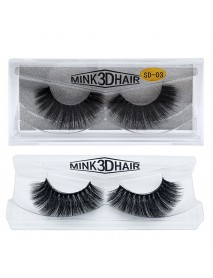 1Pair 3D Mink Hair Black False Eyelashes Makeup Cosmetics Handmade Thick Natural Long