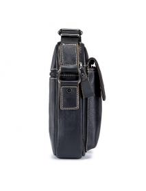 Bullcaptain Genuine Leather Business Messenger Bag Vintage Crossbody Bag For Men