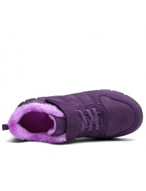 Cotton Shoes Fur Lining Hook Loop Sport Flats For Women