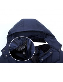 Mens Thick Winter Warm Hooded Detachable Stand Collar Casual Coat Jacket