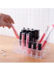 4x6 Nail Polish Lipstick Rack Transparent Desktop Acrylic Cosmetic Organizer