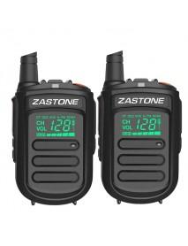 2Pcs Zastone mini9 Walkie Talkie UHF 400-470MHz Two Way Radio FM Transceiver Communicator Radio