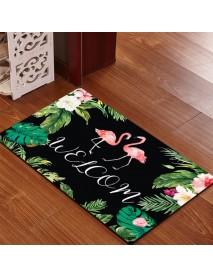 40x60cm Washable Anti-slip Flamingo Doormat Carpet Floor Rug Bath Mat Indoor Rug