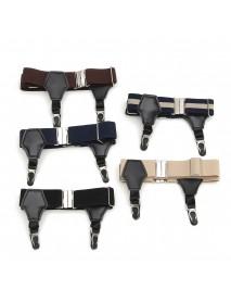 1Pair Suspender Double Grip Clip Men's Sock Adjustable Elastic Single Durable Buckle