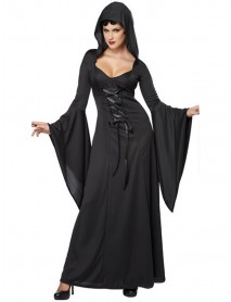 Halloween Costume Cosplay Magic Witch Dress Up Long Dress