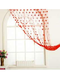 Lace Love Heart String Door Window Curtains Drapes Tassel Valance Decoration 100cm x 200cm