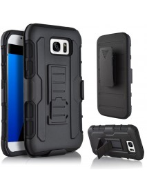 Bakeey 3 in 1 Armor Belt Clip kickstand Holder Soft TPU+Hard PC Case for Samsung Galaxy S7