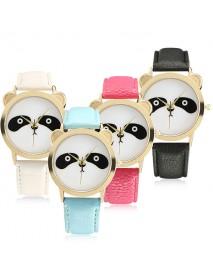 Fashion Panda Unique Women Quartz Watch Leather Women Men Wrist Watch