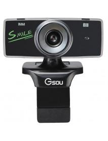 GSOU B18s USB 2.0 HD 12 Megapixels Webcam Free Drive Computer Camera with Microphone MIC