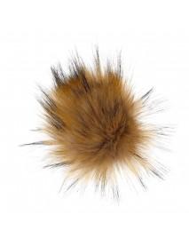 10Pcs 12cm DIY Ball Faux Fox Fur Fluff Balls Cool Colors DIY Knitted Hat Accessories