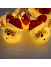 Christmas 1.5M 10 LED Fairy String Lights Lovely Santa Claus Battery Operated Decoration For Christmas Garland