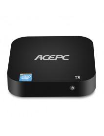 Acepc T8 Z8350 2GB RAM 32GB ROM Bluetooth 4.0 USB3.0 H.265 TV Box Support Windows 10