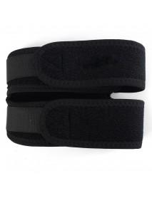 Black Adjustable Men Women Knee Supporter Brace Belt Support Protecting Bandage