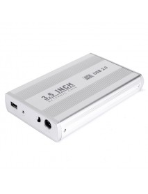 3.5inch External USB2.0 SATA Hard Disk Drive HDD Enclosure Caddy Case for PC