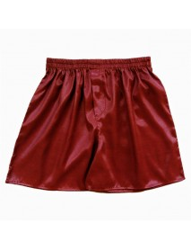 INCERUN Casual Mens Faux Silk Boxer Shorts Comfortable Breathable Sleepwear