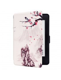 ABS Plastic Landscape Wintersweet Smart Sleep Protective Cover Case For Kindle Paperwhite 1/2/3 eBook Reader