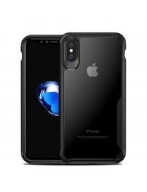 Bakeey Anti Fingerprint Transparent Acrylic Soft Silicone Protective Case for iPhone X