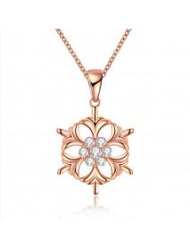 INALIS Fashion Snowflake Pendant Necklace Christmas Gift for Women Girl