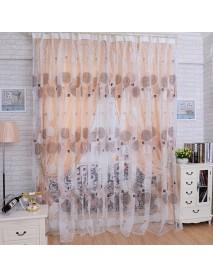 100x200cm Bird Nest Print Tulle Window Curtain Balcony Bedroom Bay Window Screen