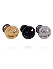 1Pc Halloween Skull Earring Stainless Steel Anti- Allergic Ear Stud Unisex