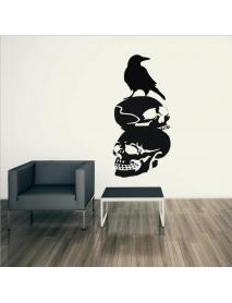 Halloween Skull Crow DIY Wall Sticker Removable PVC Wallpapers Vinyl Art Decal Waterproof Stickers