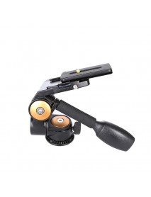 SHOOT XTGP446 Double Handle Aluminum Camera Tripod Ball Head 3D Damping Tripod Head