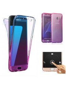 Gradient Color 360 Front And Back Full Protective TPU Case for Samsung Galaxy S6 Edge
