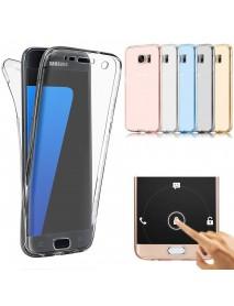 360 Full Body Clear Touch Screen Case For Samsung Galaxy A3/A5/A7 EU Version 2017