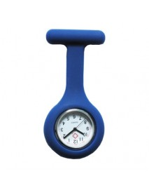 Colorful Silicone Doctor Fob Watch Pocket Nurse Watches with Clasp