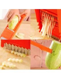 7pcs Multifunctional Vegetable Shredder Cutter Peeler Fruit Potato Corrot Cutter