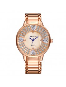 BAOSAILI BSL1036 Shining Ladies Wrist Watch Heart Imitation Diamond Quartz Watch