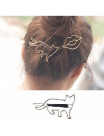 Cute Hair Clips Hollow Metal Animal Irregular Hair Accessories Sweet Body Jewelry for Women