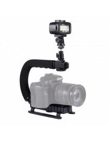 PULUZ PU3006 U-Grip C-shaped Hand Grip Camera Stabilizer Steadycam Holder Phone Clamp for DSLR