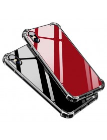 Bakeey Air Cushion Shockproof Acrylic Backboard Soft TPU Case for iPhone X