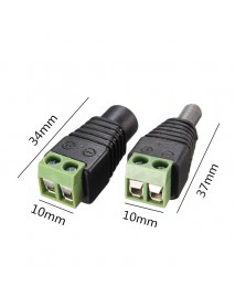 1 pairs DC Connector Male Female 5.5mm For LED Strip Light CCTV Camera