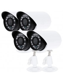 4pcs S416 700TVL Camera CMOS Waterproof IP66 IR-CUT Filter Day Night Security CCTV Bullet Camera