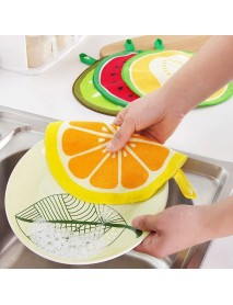 Honana 4Pcs Fruit Pattern Towel Absorbent Cloth Kitchen Towel Handkerchief Quick-Dry Cleaning