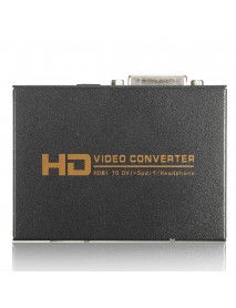 1080P Full HD HD to DVI Spdif Headphone Audio Video Converter 5.1CH 2.0CH