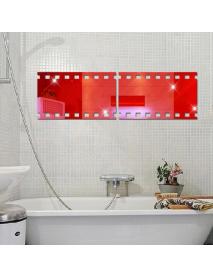 3D Kinetoscope Film DIY Shape Mirror Wall Stickers Home Wall Bedroom Office Decor
