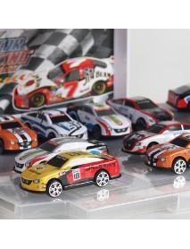 Children's Parking Lot Car Toy Set Puzzle Alloy Sliding Trolley Simulation Garage Storage Box Model Building