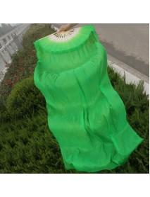 1.8m Lengthen Belly Dance Fan Imitated Silk Fabric Bamboo Fans Dance Dancing Performance Supplies