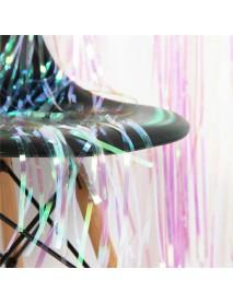 Iridescent Foil Fringe Curtain Party Decoration Mermaid Unicorn Backdrop Door Shower Curtains