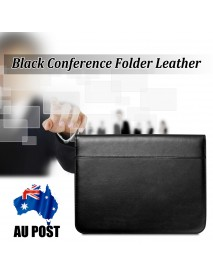 13.38 x 10.24 Inch Business Men Briefcase Bag PU Leather Black Bag Office handbag Briefcase