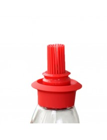 High Temperature Resistant Silicone Brush Oil Bottle Set Kitchen Transparent Glass Flavouring Tool