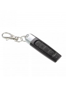 10Pcs 433MHz Auto Pair Copy Remote 4 Buttons Garage Gate Door Wireless Remote Control with Key Ring