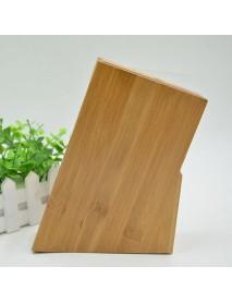 6 Slot Bamboo Cutter Holder Block Scissor Storage Rack Wooden Kitchen Organizer Tools