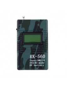 Professional RK560 50MHz-2.4GHz Handheld Frequency Counter DCS CTCSS Radio Testing Frequency Meter Decoder