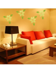 3D Leaves Wall Decals 3 Pcs 10 Colors Acrylic Home Bedroom Living Room Wall Stickers Decor